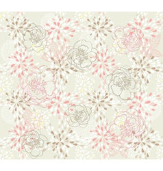Seamless cute floral pattern vector