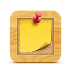 bulletin board vector image vector image