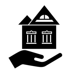 home protection icon simple black style vector image