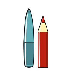 pan and pencil isolated on a white background vector image vector image