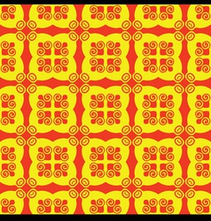 Seamless red and yellow pattern vector image