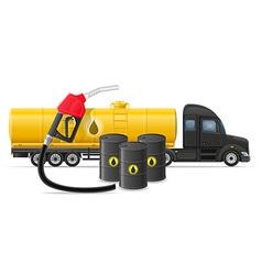 semi truck trailer concept 05 vector image vector image