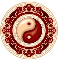 yang yang symbol rosette vector image