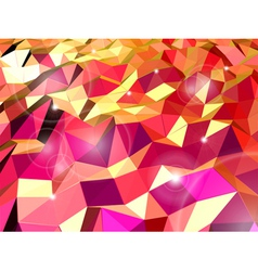 Abstract red background Combination of triangle vector image vector image
