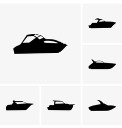Cutter boat vector image