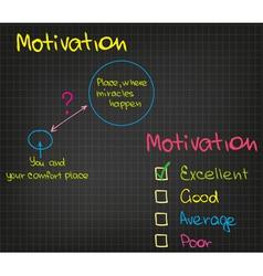Motivation vector image