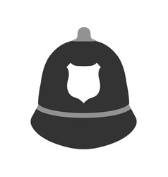 police hat elements of the police equipment vector image vector image