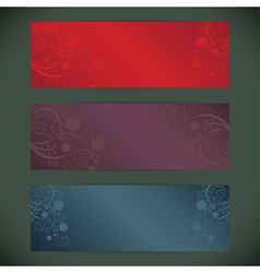 Set of floral banner vector image vector image