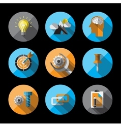 Universal Flat Icons for Web vector image vector image