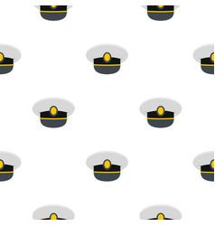 White nautical hat pattern flat vector