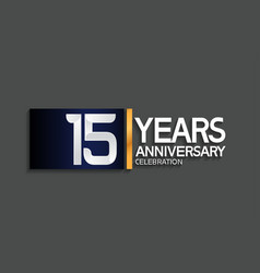 15 years anniversary logotype with blue vector
