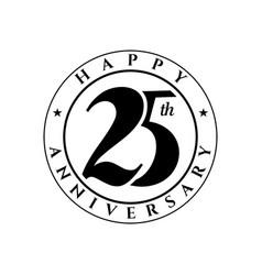 25 th anniversary vector