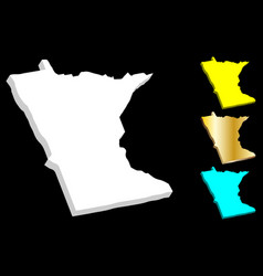 3d map of minnesota vector