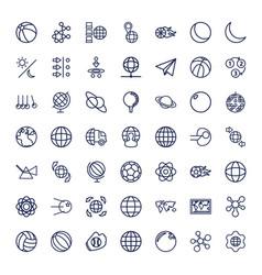 49 sphere icons vector