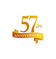 57 year ribbon anniversary vector image