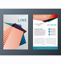 A4 Abstract Background design Brochure Flyer vector image