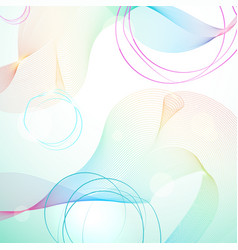 Abstract light rainbow guilloche background vector
