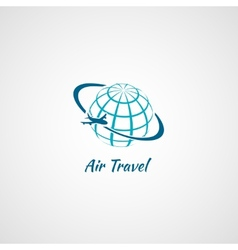 Airplane icon globe vector