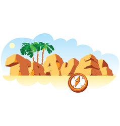 Alphabet made stone single word travel vector