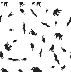 animal halloween seamless pattern vector image