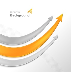 Arrows business background vector image