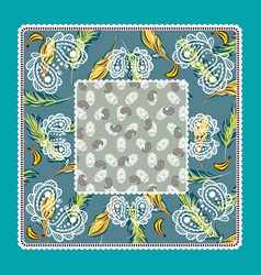 Bandana tropical paisley design vector