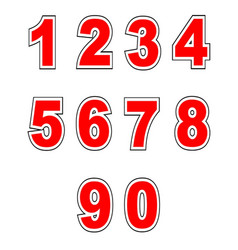 Baseball shirt numbers vector