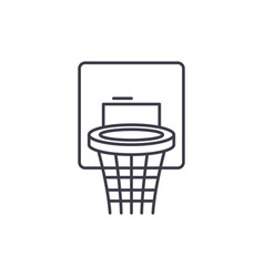 basketball basket line icon concept basketball vector image