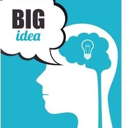 Big idea creative and intelligence vector