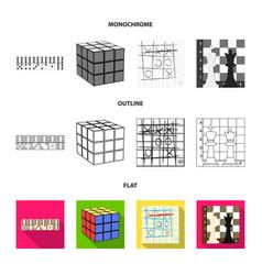 board game flatoutlinemonochrome icons in set vector image