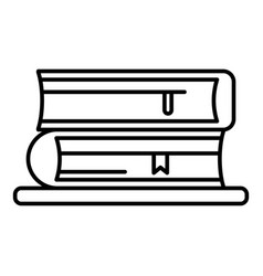 book stack icon outline style vector image