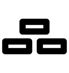 Bricks Stroke Icon vector