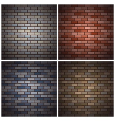 Bricks walls vector