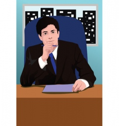 business think vector image