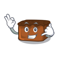 Call me brownies mascot cartoon style vector