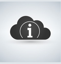 cloud computing icon information icon sign vector image