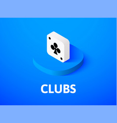clubs isometric icon isolated on color background vector image