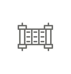 commandment symbol icon spiritual concept vector image