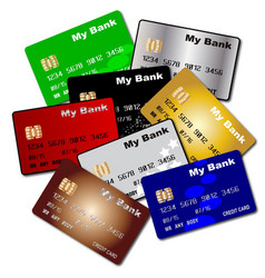 Debit and credit cards vector