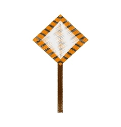 drawing sign road caution vector image