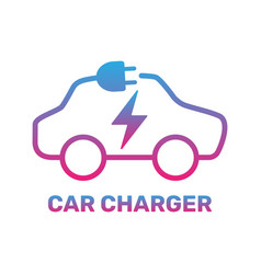 electric car icon electric car charging station vector image