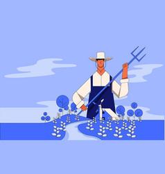 Farmer concept working vector
