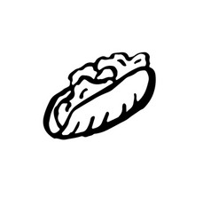 fast food meal doner kebab ink vector image