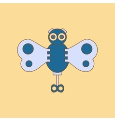 Flat icon on background Kids toy butterfly vector