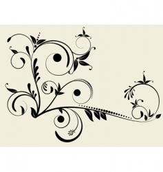 flower monogram vector image