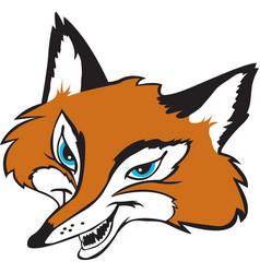 fox head logo mascot vector image