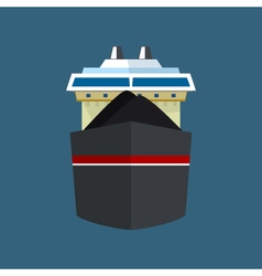 Front View of Dry Cargo Ship vector