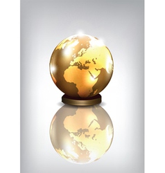 golden earth vector image