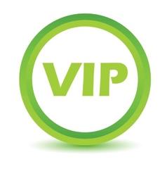 Green vip icon vector