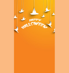 halloween background with paper art carving style vector image
